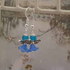 Wee Fairy Earrings, Gift for Her, Blue
