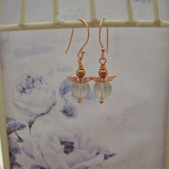 Wee Fairy Earrings, Gift for Her, Rose Gold Plated