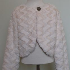 Cream Faux Fur Shrug / Jackets by SerendipityGDDs for ages 3 to 8 4