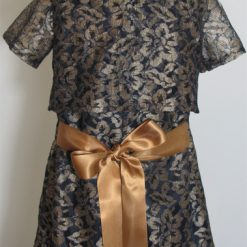 Gold Lace Designer party dress by SerendipityGDDs for age 3 1