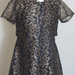 Gold Lace Designer party dress by SerendipityGDDs for age 3
