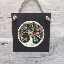 Tree of life healing crystals gift art