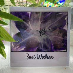 Greetings card, Encaustic art
