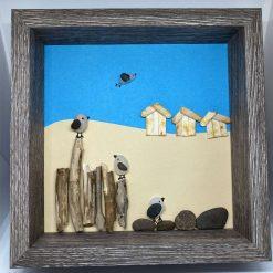 Pebble art, at the beach
