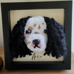 Knitted pet portrait