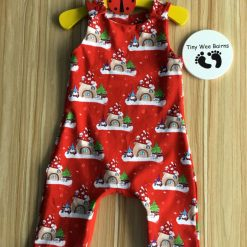 Matching Christmas outfits   unisex dungarees