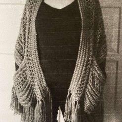 Crochet Handmade Shawl/Scarf with pockets