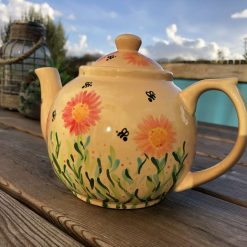 Red and Orange Autumn Colours Teapot, Ceramic Pottery Shop, Gifts for Friends and Family