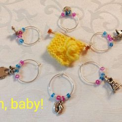 Wine or Gin Glass Charms-Oh Baby!