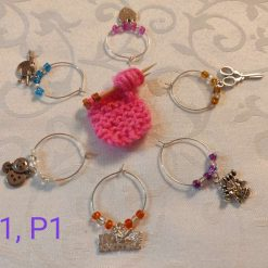 Wine or Gin Glass Charms-K1,P1