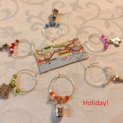 Wine or Gin Glass Charms-Holiday!