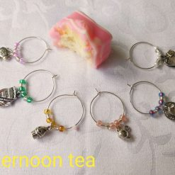 Wine or Gin Glass Charms-Afternoon Tea