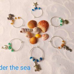 Wine or Gin Glass Charms-Under the Sea