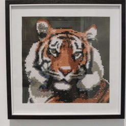 Diamond Art 5D Resin Bead Framed Mounted Tiger Picture