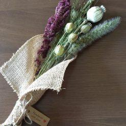 Poppy Head Hessian Bouquet