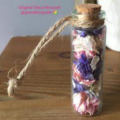 Grace Bouquet Florals Glass Jars