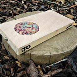 Beatbox – Electro-acoustic, portable drum box/cajon – Natural/Paisley