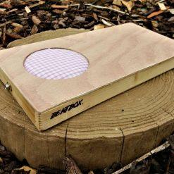 Beatbox – Electro-acoustic, portable drum box/cajon – Natural/Pink Gingham