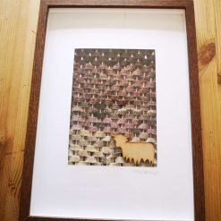 Hand made tweed landscape picture