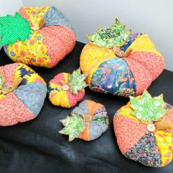 Large Handcrafted Fabric Pumpkin Ornament from Sand Bags, St Ives by Naomi