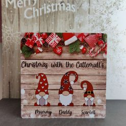 Personalised Gnome Christmas signs