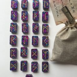 Casting Runes: Elder Futhark Viking Runes|Wicca|Occult|Norse|Pagan|Witchcraft|Divination|Fortune Telling|Gift Set