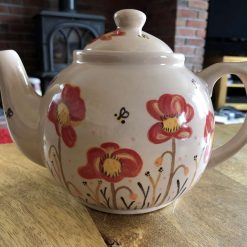 Red Poppy Teapot, Ceramic Pottery Shop, Gifts for Friends and Family
