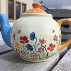 Summer Mayhem Floral Teapot, Ceramic Pottery Shop, Gifts for Friends and Family