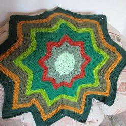 Autumn star crochet baby blanket - Free shipping