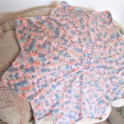 Crochet star baby blanket for boy or girl - Free shipping