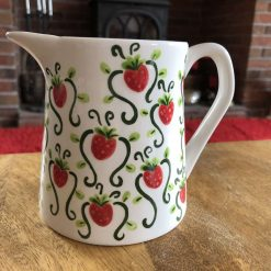 Strawberry Patch Jug, Small, Ceramic Pottery Shop, Gifts for Friends and Family
