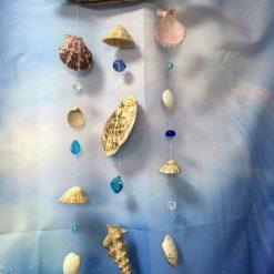 Rustic Driftwood, Seashell & Bead Mobile