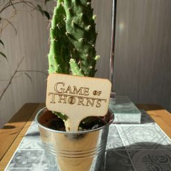 Wooden plant sign tag laser engraved- Game of Thorns