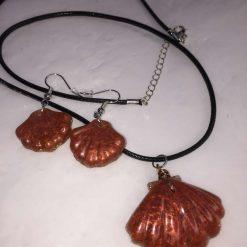 Shell Pendant & Earring Set