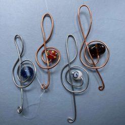 Treble Clef wire & bead suncatcher