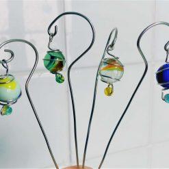 "Decorative Fairy ""Lanterns"" Plant Pot Stakes, set of 4"