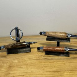 Hand turned wooden keyring pen touchscreen stylus podger