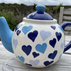 Blue and White Big Heart Teapot
