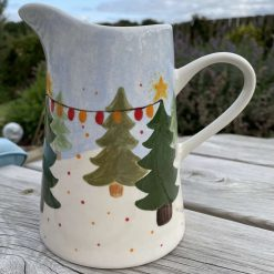 Christmas Lights in the Forest Jug, Medium
