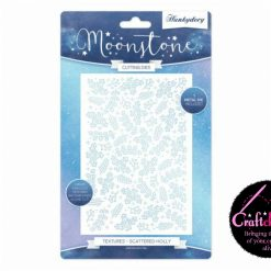 Hunkydory - Moonstone Cutting Dies - The Joy Of Christmas - Textures - Scattered Holly Cutting Die