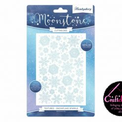 Hunkydory - Moonstone Cutting Dies - The Joy Of Christmas - Textures - Snowflake Sparkle Cutting Die