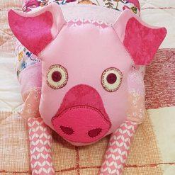 Handmade Bed Buddy Pig