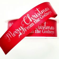 Personalised Christmas Ribbon, family, gift wrapping 🎄