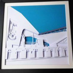 Hillsbourgh Stadium Layered Card/Papercut Art