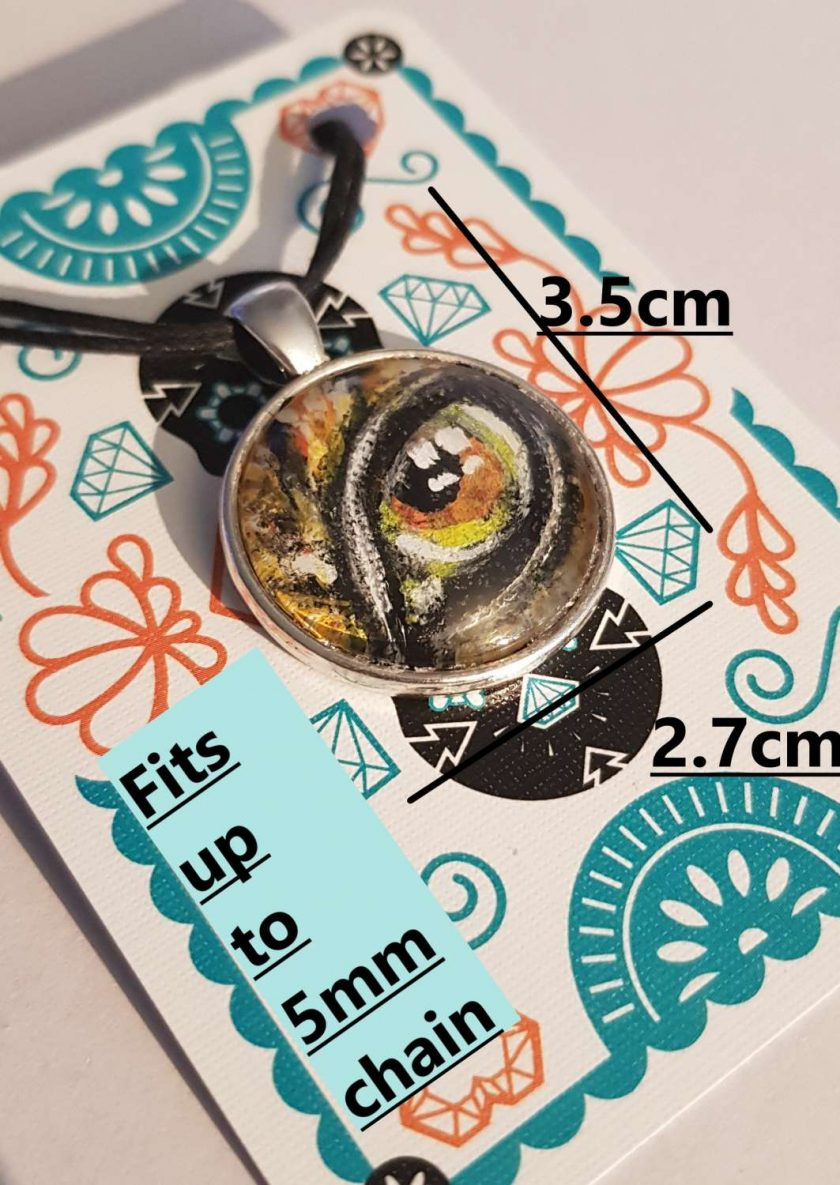 Handpainted pendant dome -Art Acrylic- one of a kind-Necklace-Charm-Keyring-Tree of life ~ purple