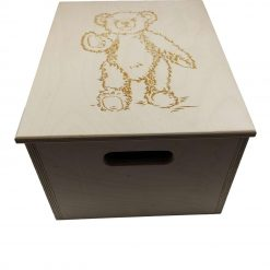 A Personalised Teddy Bear Design Storage Chest