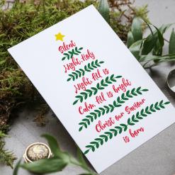 Snowman candy cane Christmas card