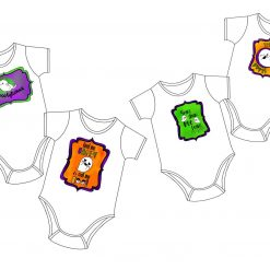 0 - 3 Months/ Personalised Halloween Baby Grows / Customized Baby Grow / Baby Clothes Customised/ Halloween / Baby Gift/ Halloween