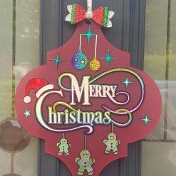 Arabasaque Christmas Door Decoration... Special Introductory Price
