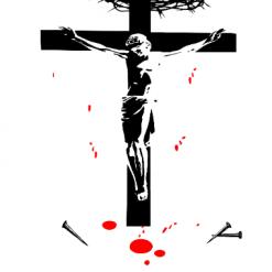 Jesus on Cross SVG   Cricut   Silhouette   CNC ESP DXF JPG PNG PDF